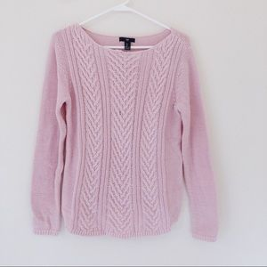 Fitted Soft Pink Gap Sweater